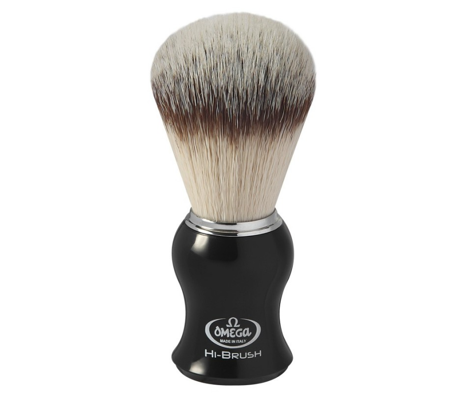 OMEGA PENNELLO DA BARBA SINTETICO HI-BRUSH NERO