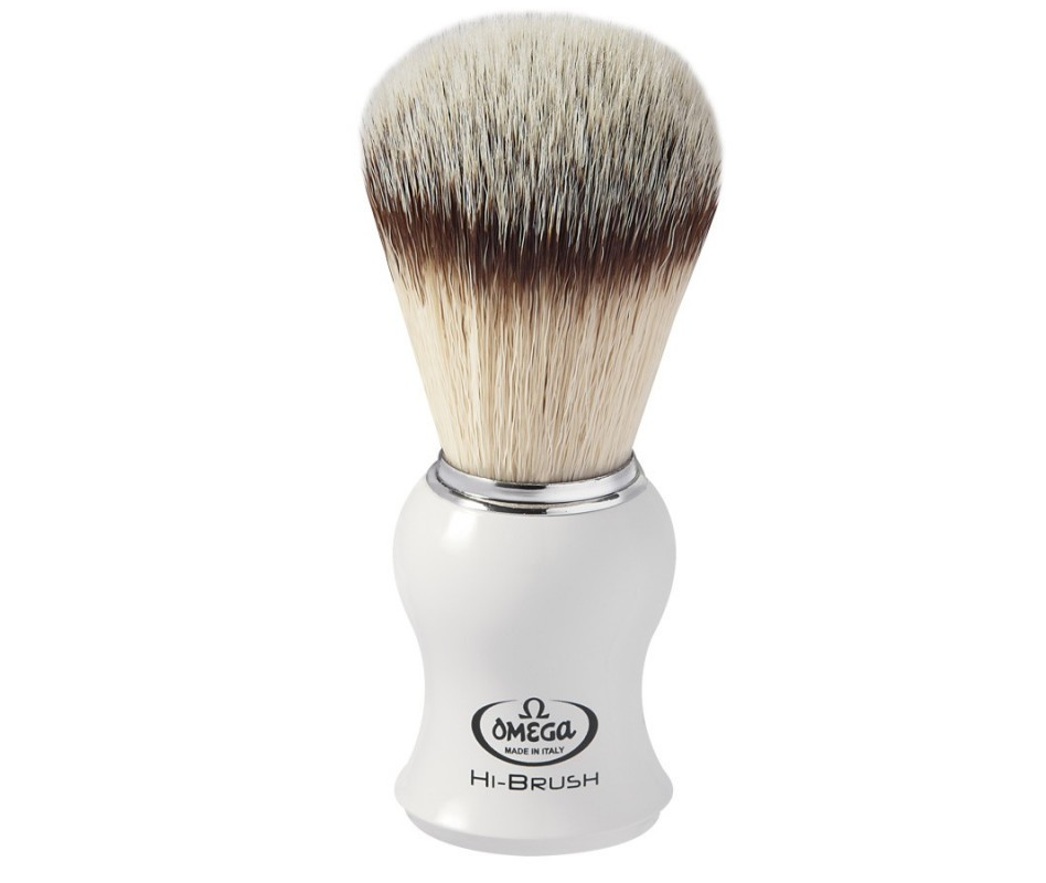 OMEGA PENNELLO DA BARBA SINTETICO HI-BRUSH BIANCO